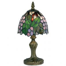 Tiffany Green Flower 1x40w 6 Inch Floral Table/Bedside  Lamp -   OT 50 GR